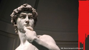 The Michelangelo's David crying