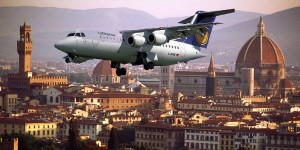 Aerei su Firenze